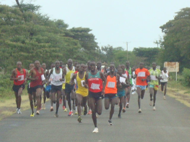 Marathon Runners in action
