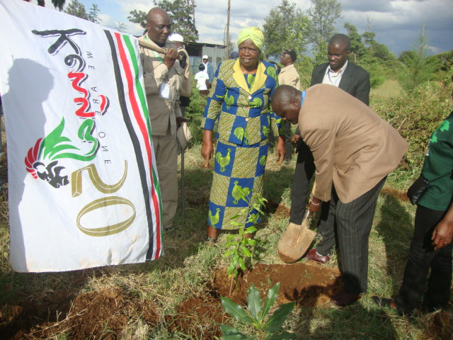 Planting of Peace trees at Wangari Maathai Gardern