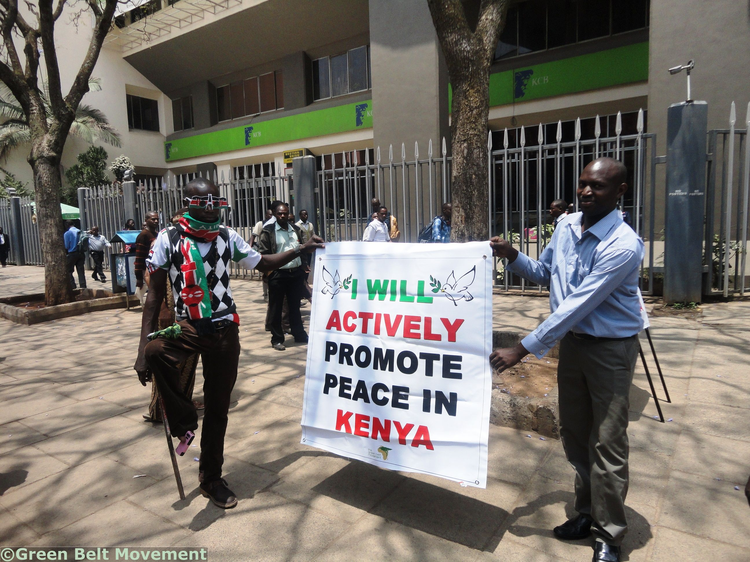Citizens of Nairobi were eager to make a commitment to promote peace in the country.