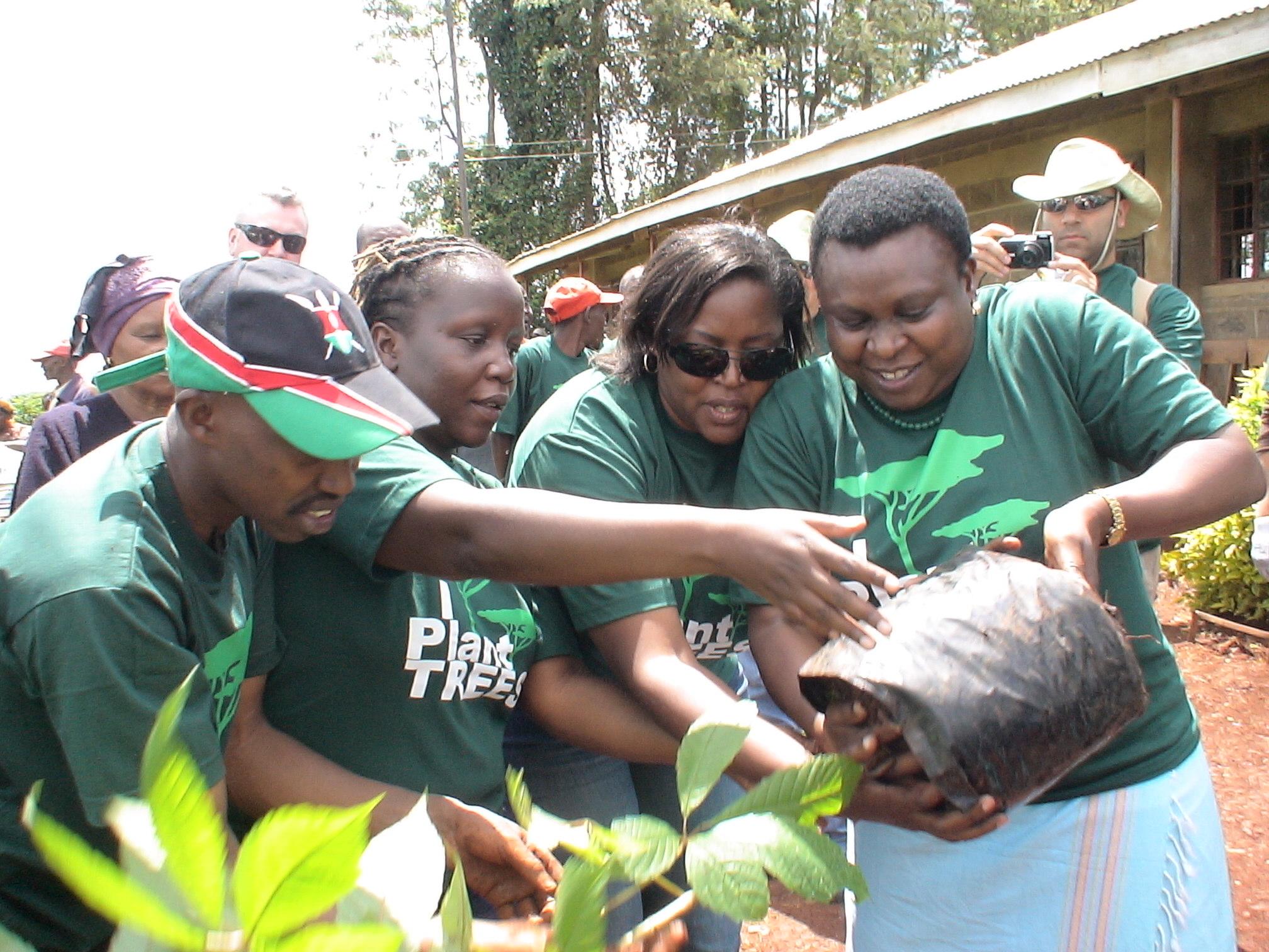 Left to Right: Christine Okoko (Finance), Juliet Otieno (HR) and Pauline Kamau (Executive Director)