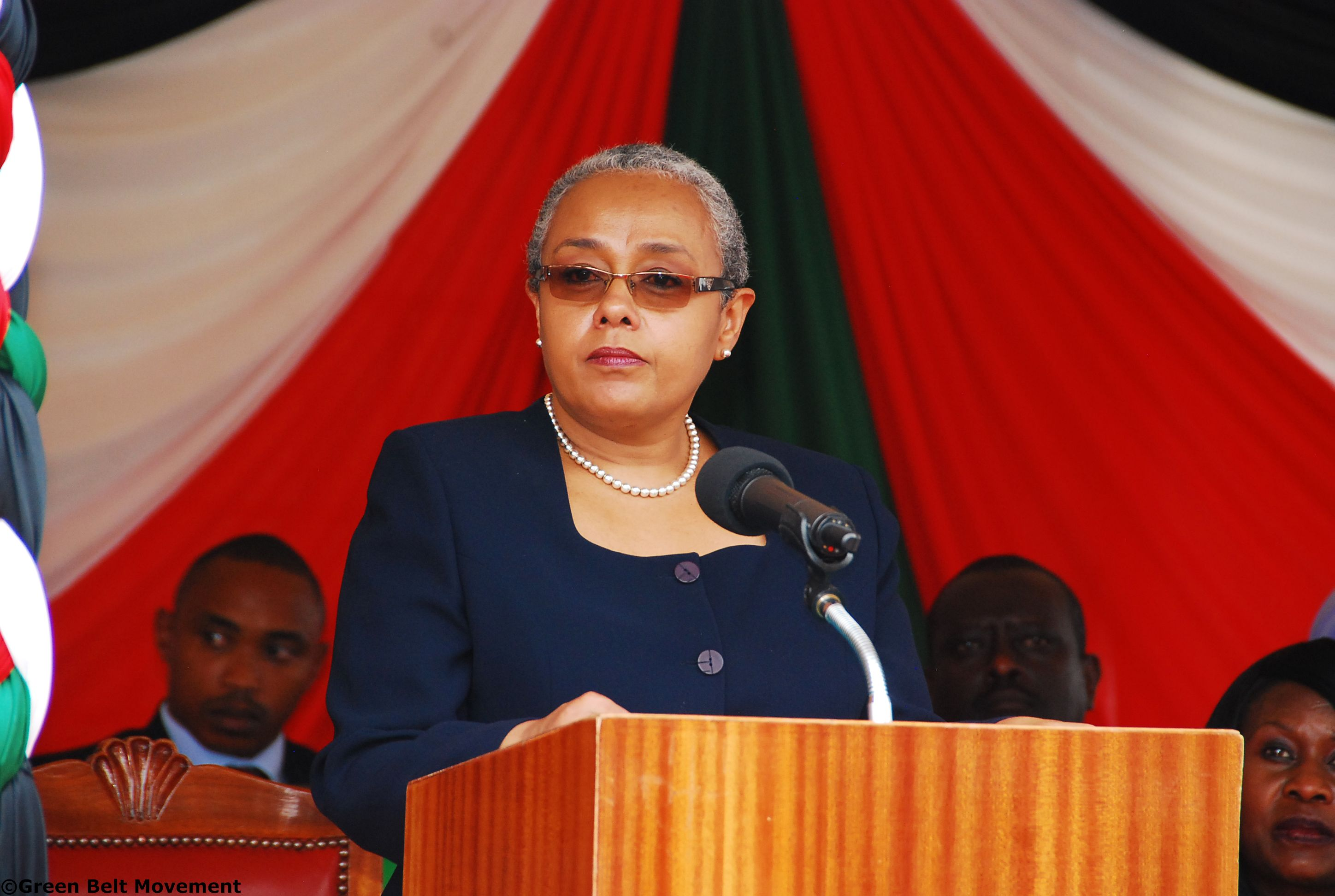 Her Excellency Margaret Kenyatta, First Lady of the Republic of Kenya addressing the assembled guests