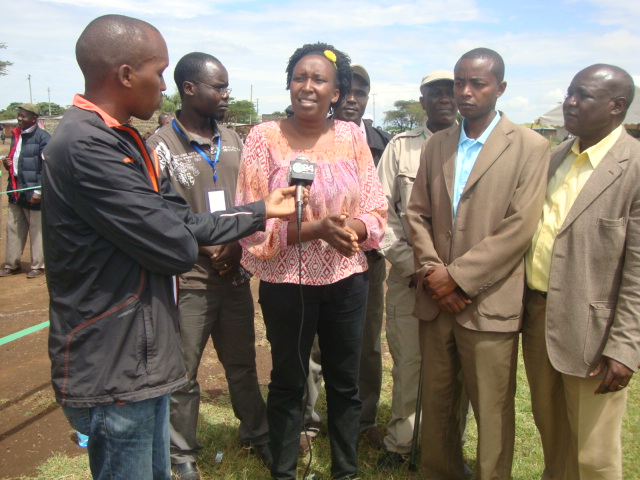 Ms. Judy Kimamo with other Key Stakeholders being interviewed with Journalists