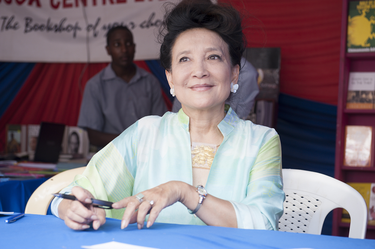 Jung Chang signs copies of her books at the Storymoja Hay Festival