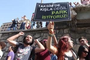 Taksim Gezi Park protesters.