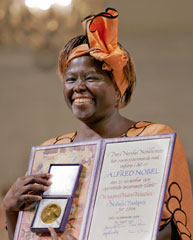 wangari maathais nobel peace prize acceptance Image copyright reuters image caption wangari maathai receives the nobel peace prize in oslo  this would all lead to the award in 2004 of the nobel peace prize - the first time it had gone to.