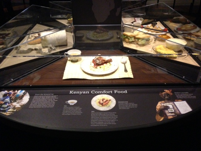 Wangari Maathai's meal at the AMNH