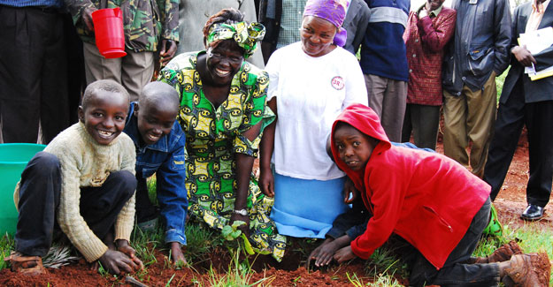 Join us in keeping Wangari Maathais legacy alive by planting trees and getting involved in your own community!