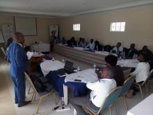 Wycliffe Matika, Interim Director GBM, during the CCCAP Validation Workshop in Nakuru Town