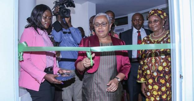 First Lady Margaret Kenyatta paid glowing tribute to the late Nobel Peace Laureate