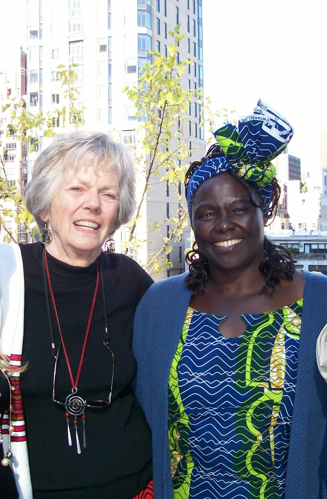 Peg and Wangari Maathai